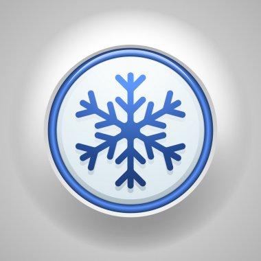Freezing button sign icon clip art vector