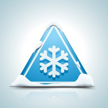 Cold Warning traffic Sign clip art vector