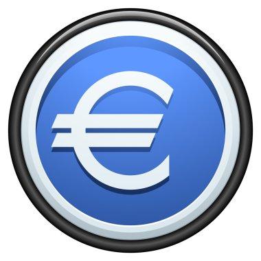Euro button sign icon