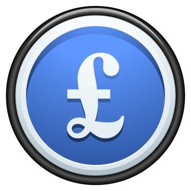 Pound button sign illustration