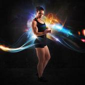 Fotografie Energy of muscular woman
