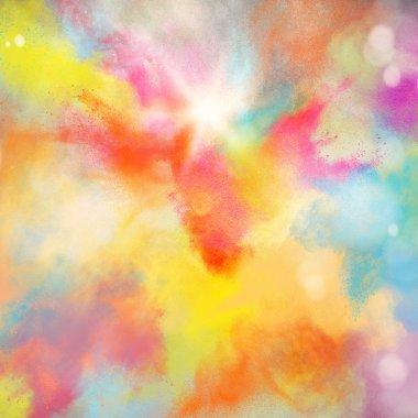 Background of colourful burst