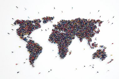 people forms world continents