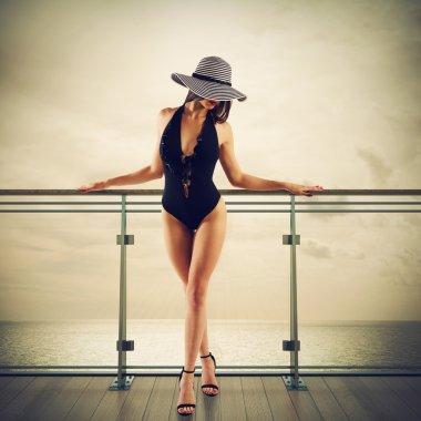 Luxury woman on cruise