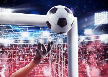 Goalkeeper saving the ball away