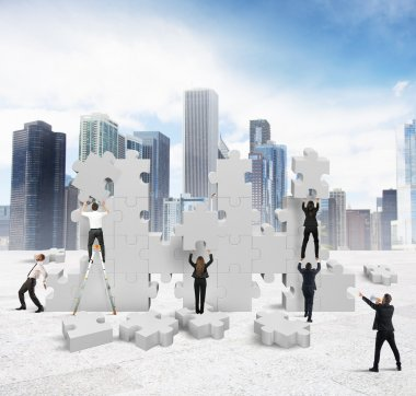 Business people builds new company