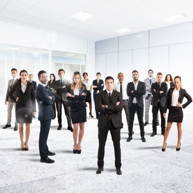 Partnership and teamwork with businesspeople