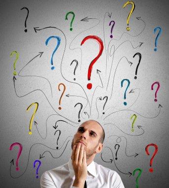 Businessman gets questions