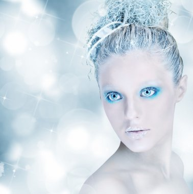 Woman with winter make up