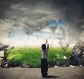 Fotografie Dítě čistí přírodního prostředí