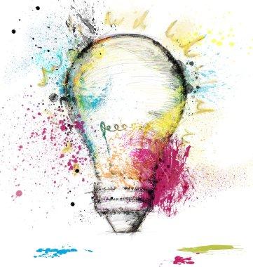 Paint light bulb symbol