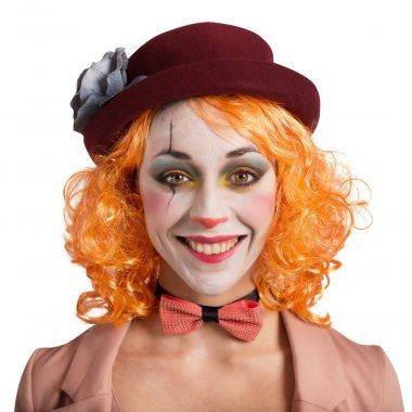 Beautiful vintage woman clown