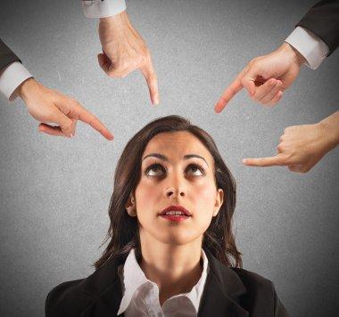 Businesswoman blamed unfairly