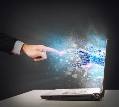 Human and the virtual world
