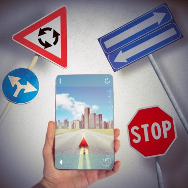Drive with GPS Navigator