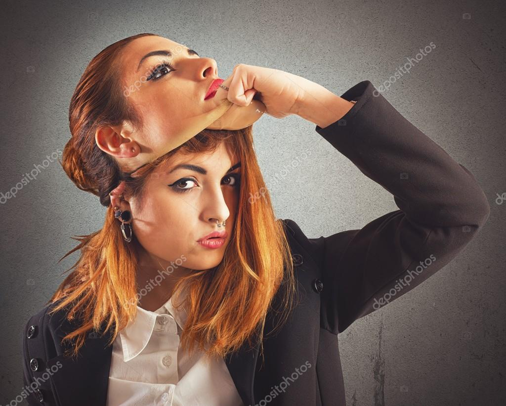 Alternative girl with piercing