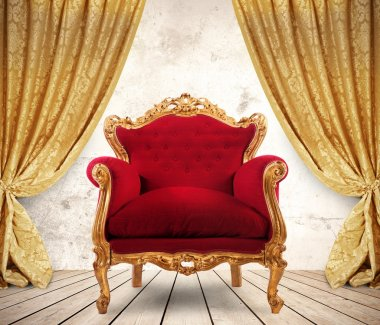 Room with royal armchair