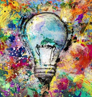 Drawn light bulb