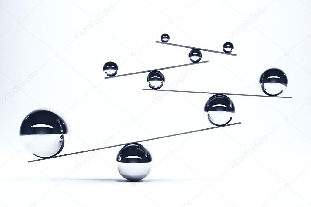 Superieur Boules De Fer Dans Un équilibre Parfaitu2013 Images De Stock Libres De Droits