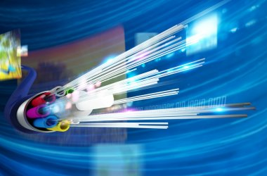 optical fiber with multimedia background