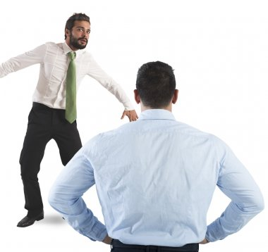 Man frightened by his boss