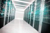 Fotografie virtuellen Raum, der Daten sammelt