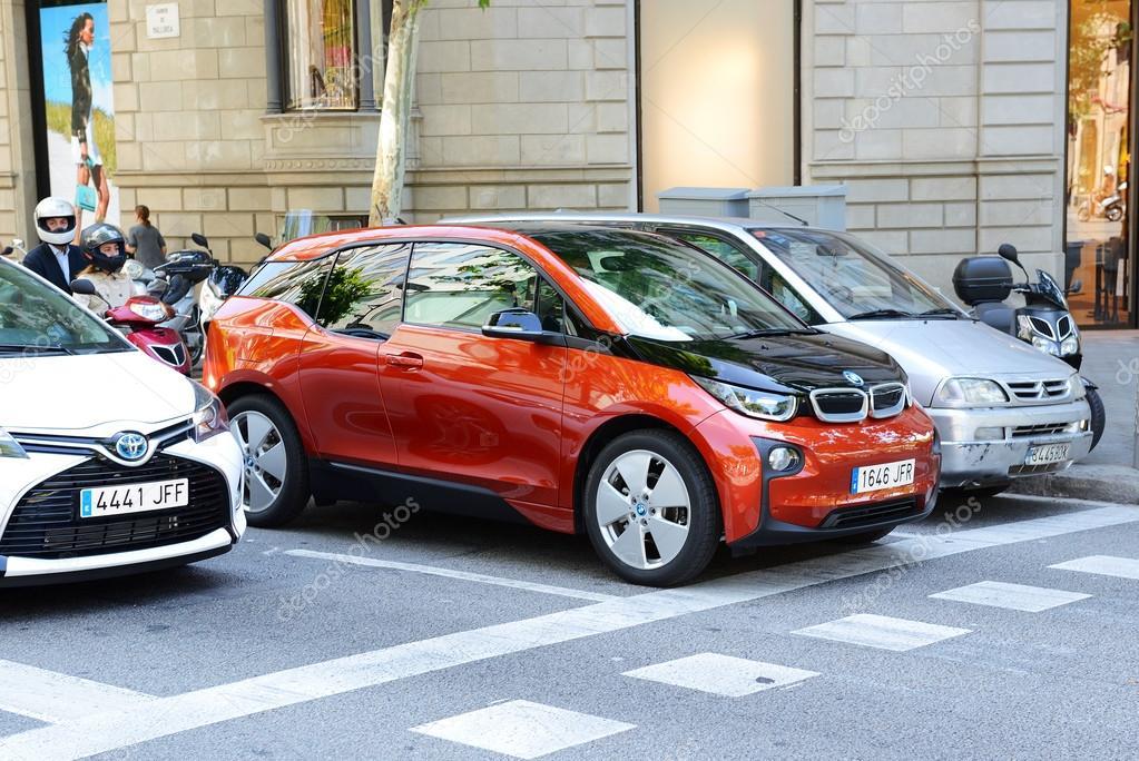 Barcelona Spanje 27 Mei Elektrische Auto Van De Bmw I3 Is Op