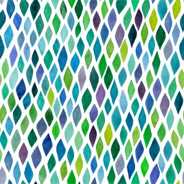 Watercolor seamless abstract hand-drawn pattern