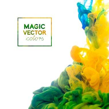 Vector Ink swirling in water
