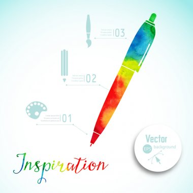 Creativity concept with colorful pen