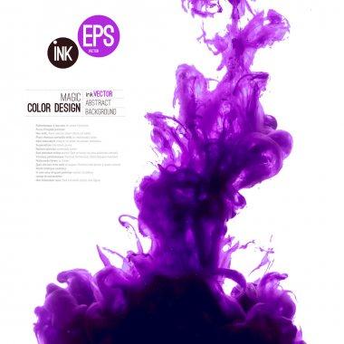 purple ink cloud swirling in water