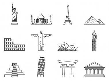 Landmark Icons set.