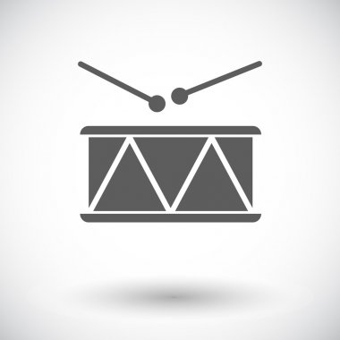 Drum vector flat icon