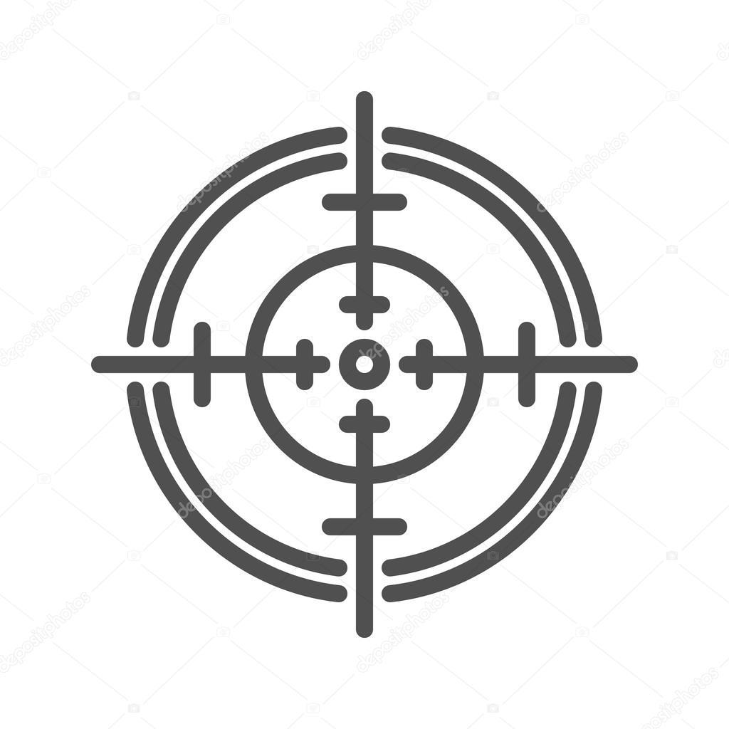 Icono de la l nea de punter a vector de stock for Lacar muebles en blanco a pistola