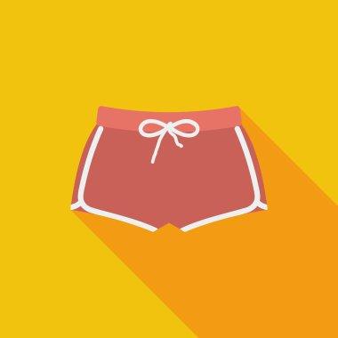 Sports shorts single icon.