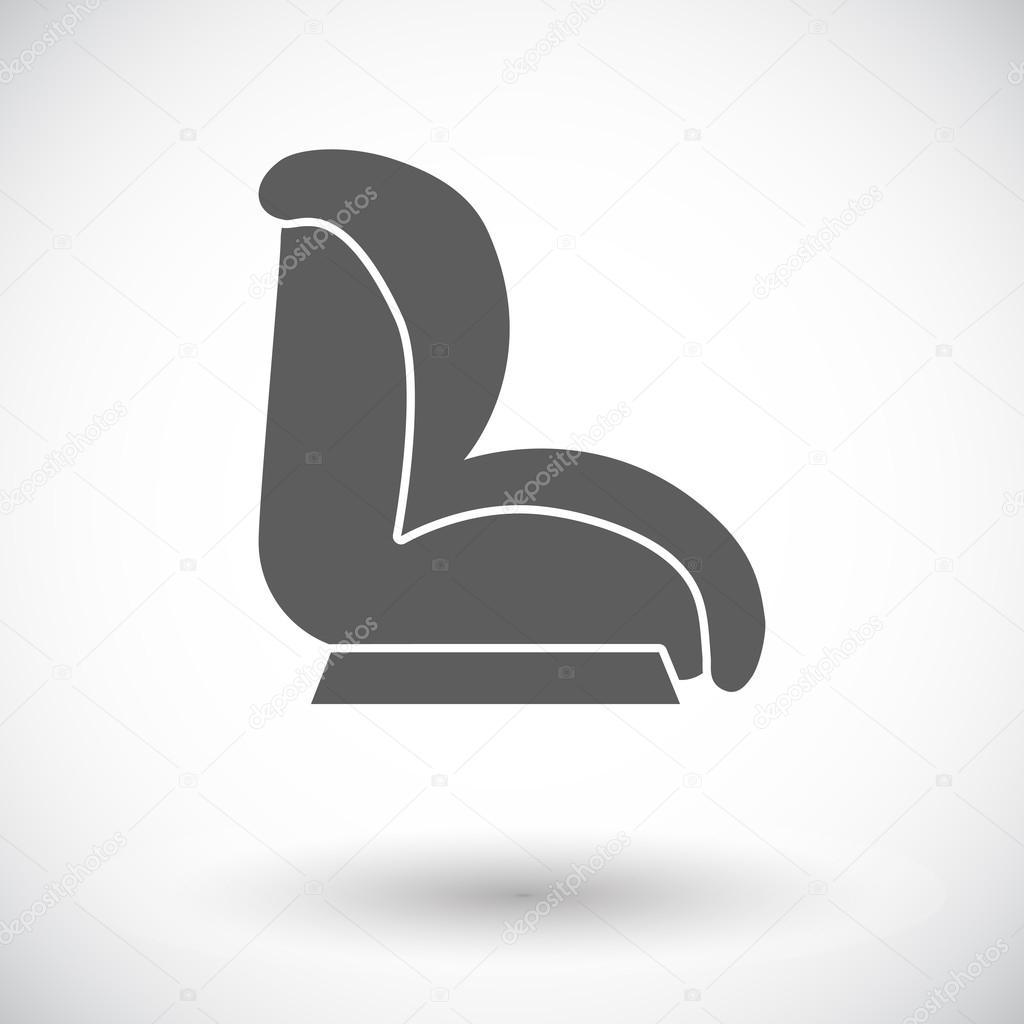 Child car seat flat icon.