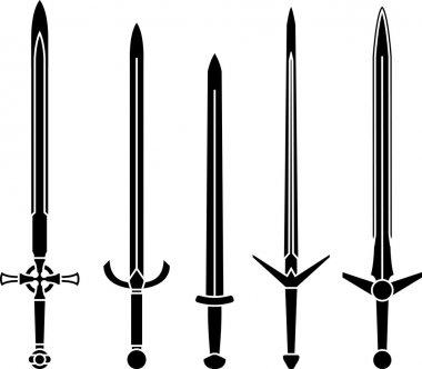stencils of medieval swords