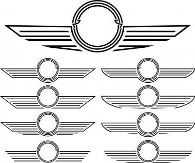 Set of insignias