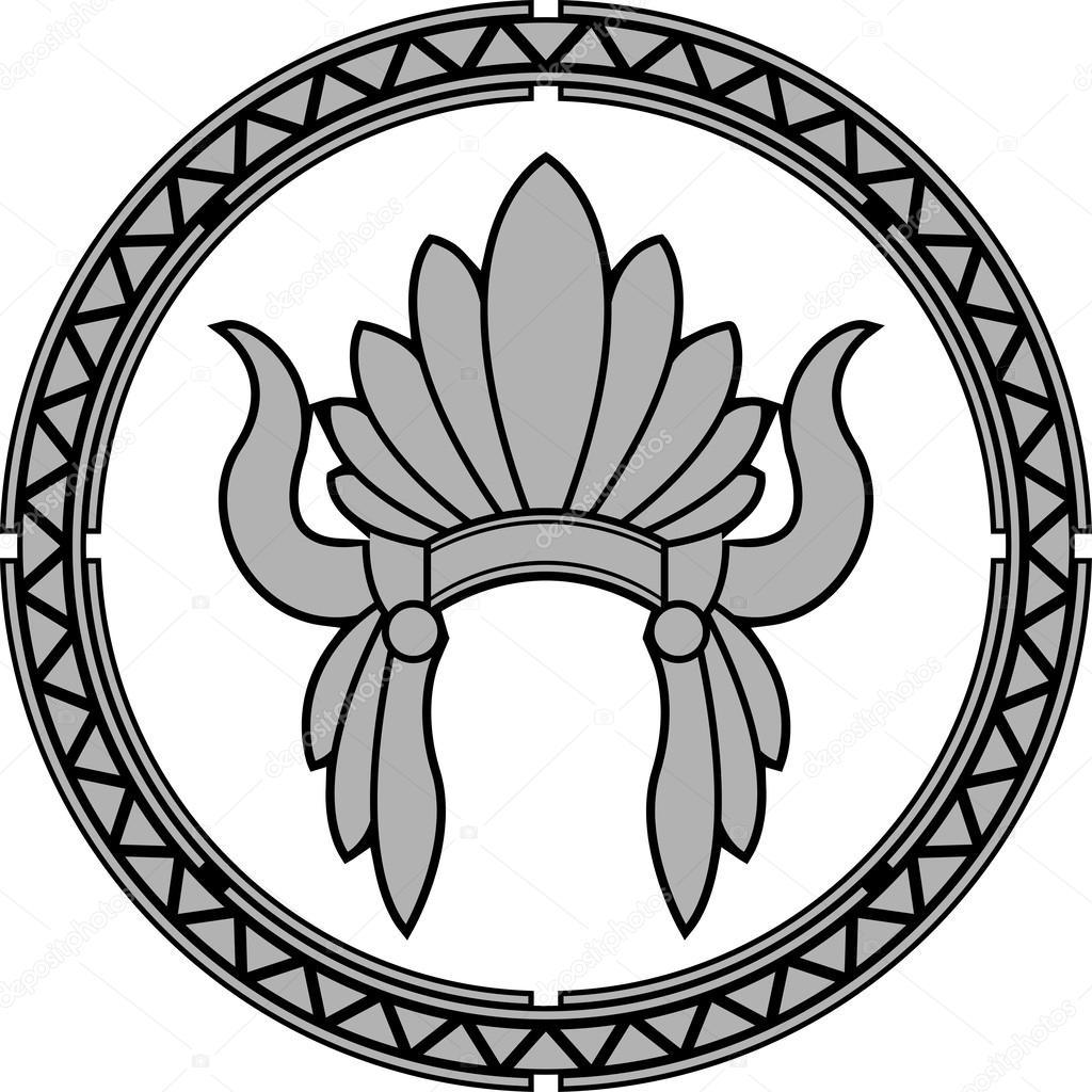 tocado indio nativo americano — Vector de stock © santi0103 #55710157