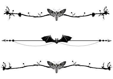 set of magic vignettes