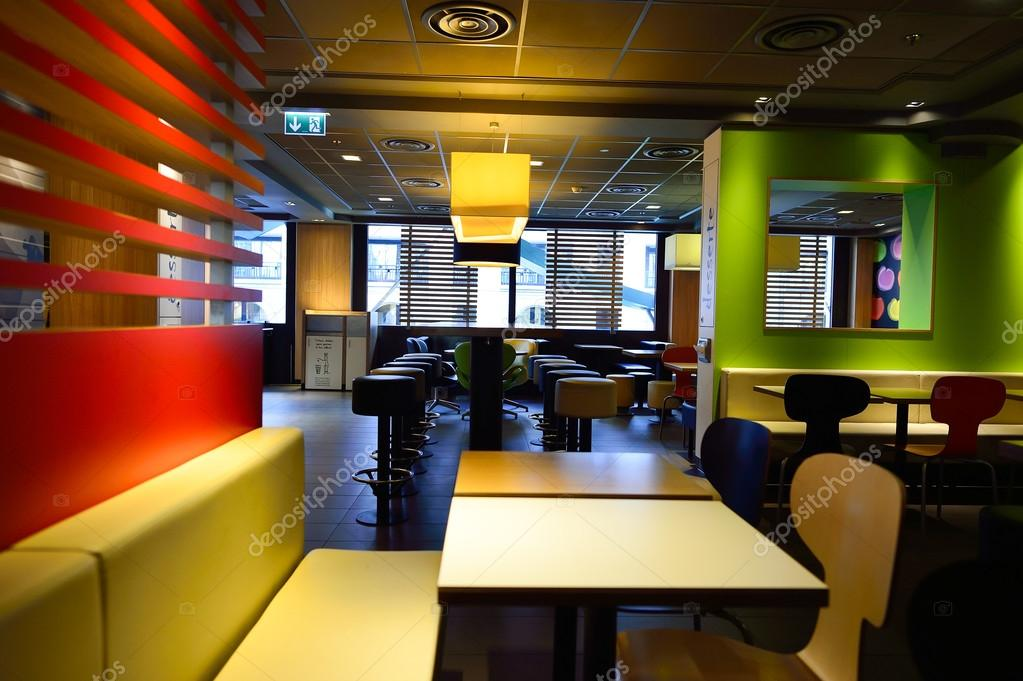 Mcdonald 39 S Restaurant Interior Stock Editorial Photo