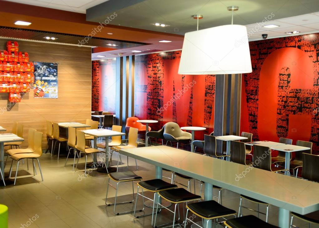 Delightful Interior Of McDonaldu0027s Restaurant U2014 Stock Photo