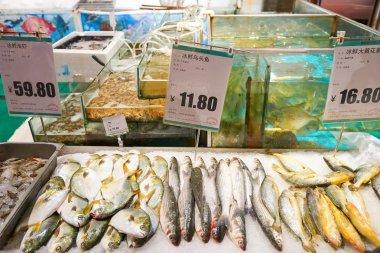 fresh fish at JUSCO store