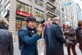 muž fotografování v New Yorku
