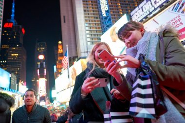 women at Times Square