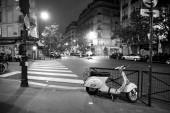 Město Paříž v noci