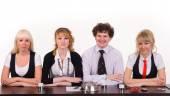 Fotografie business team on white