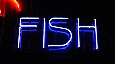 Neon color signboard