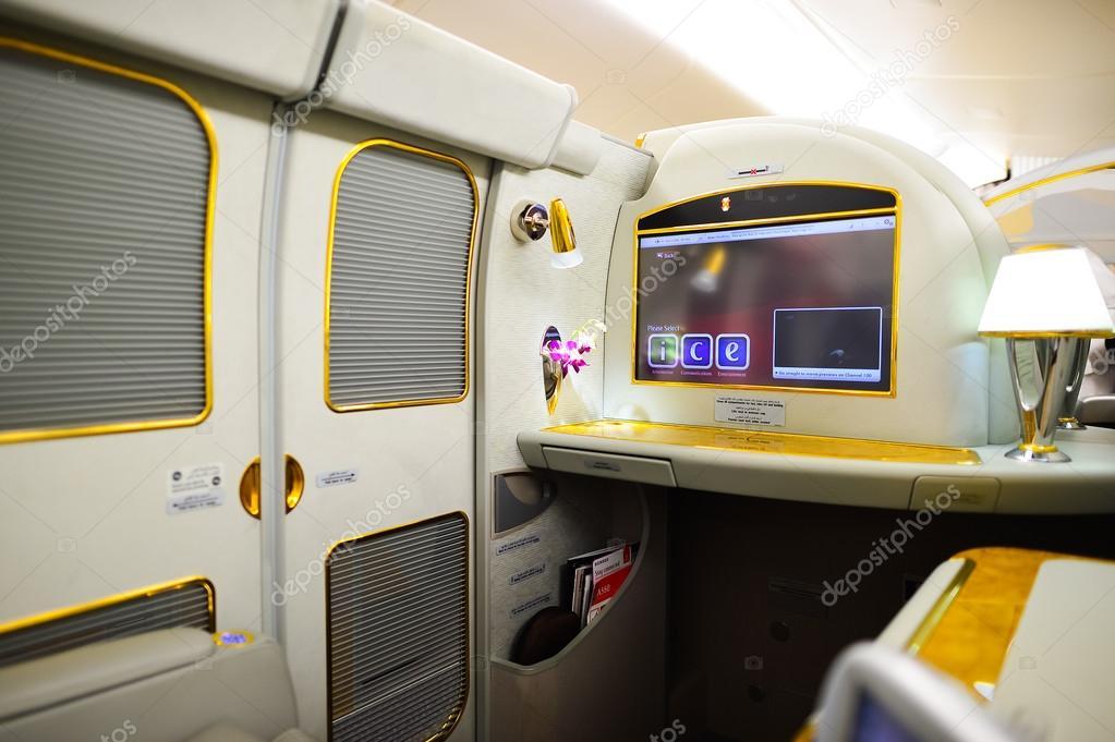 Interior del airbus a380 de emirates foto editorial de for Airbus a380 photos interieur