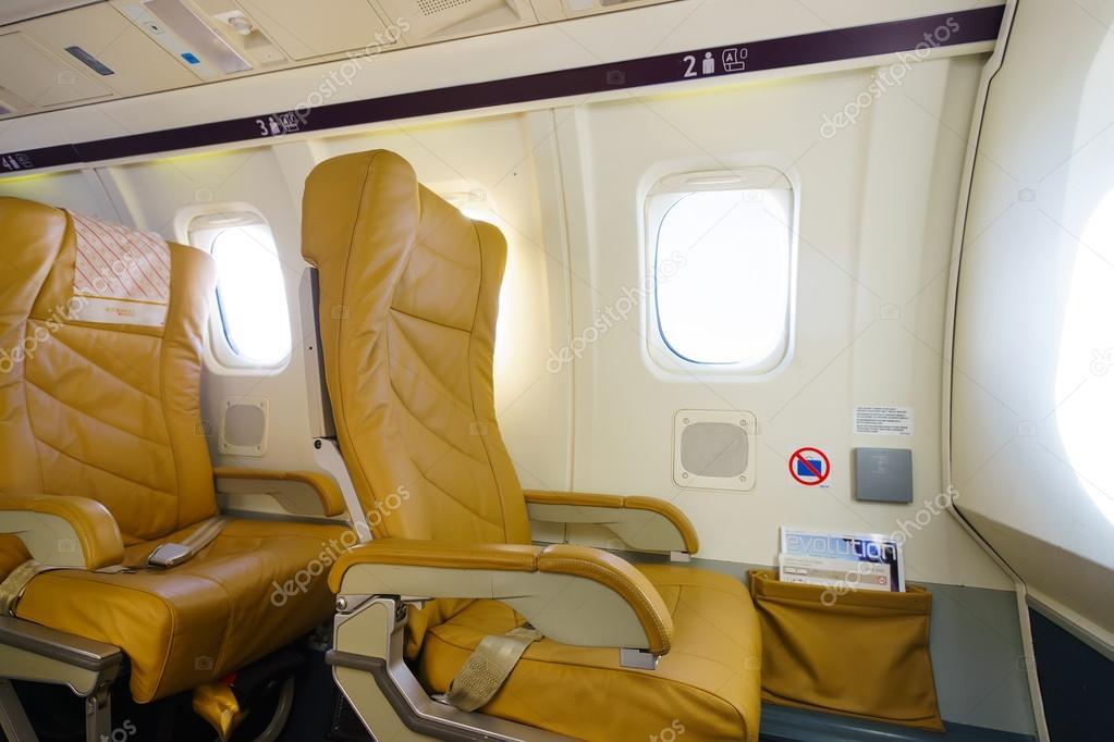 Darwin Airline Saab 2000 Interieur — Redaktionelles Stockfoto ...
